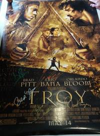 image of FULL SIZE MOVIE POSTER 'TROY', *SIGNED* BY CAST (REPRINT POSTER)