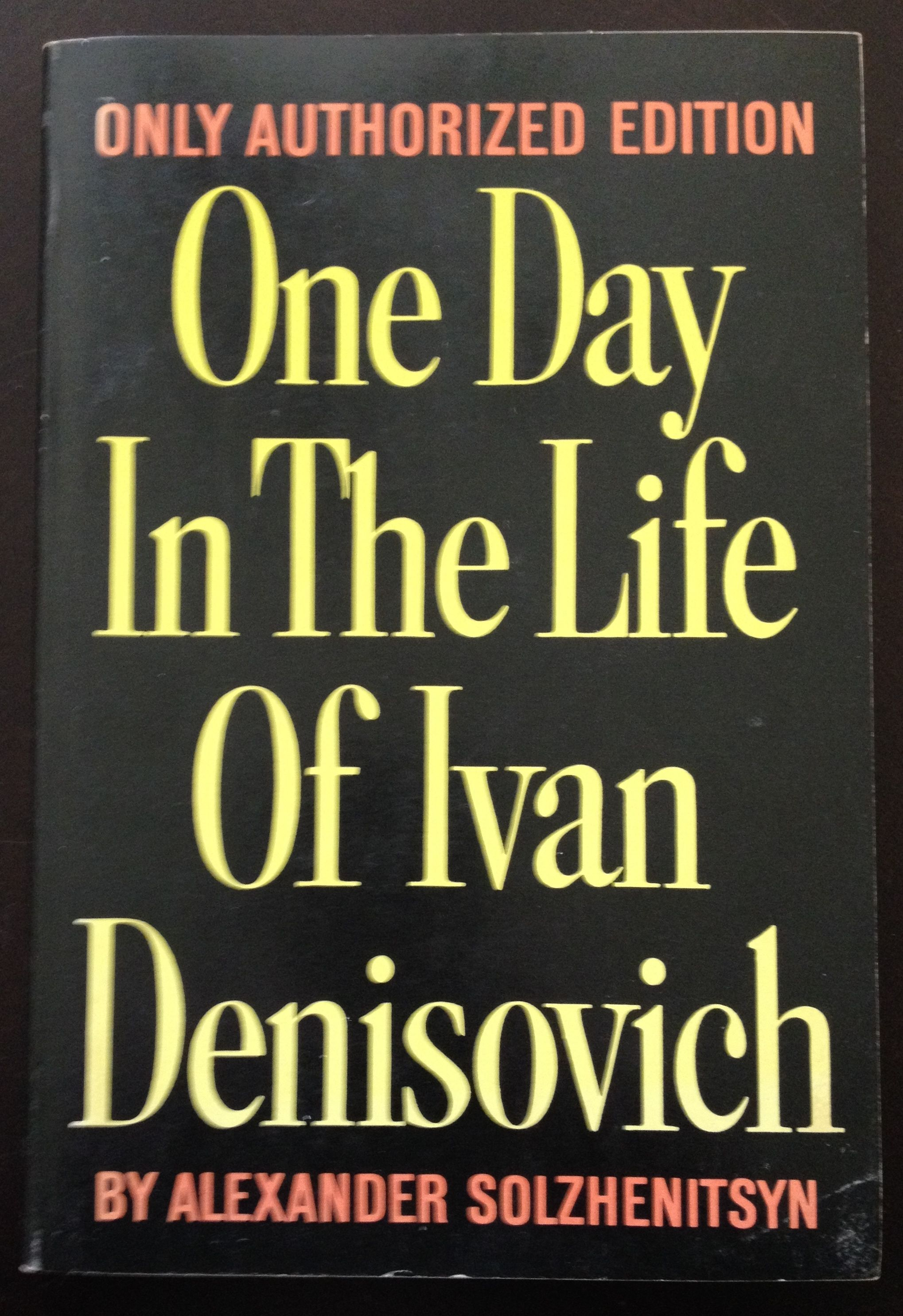 a summary on the book one day in the life of ivan denisovich by aleksandr solzhenitsyn Of ivan denisovich alexander solzhenitsyn table of contents plot overview   buy the print one day in the life of ivan denisovich sparknote on bncom.