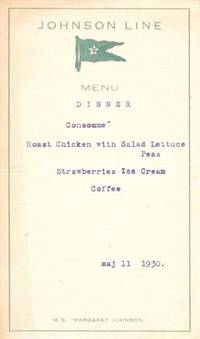 (n.p.), 1930. 1st Printing. White card stock, printed in teal, lettering typed in blue, now housed i...