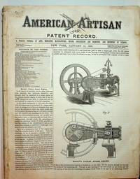 American Artisan Jan 15, 1868 to July 8, 1868 WITH Patent Record ...A Supplement to American Artisan...Jan-June 1868