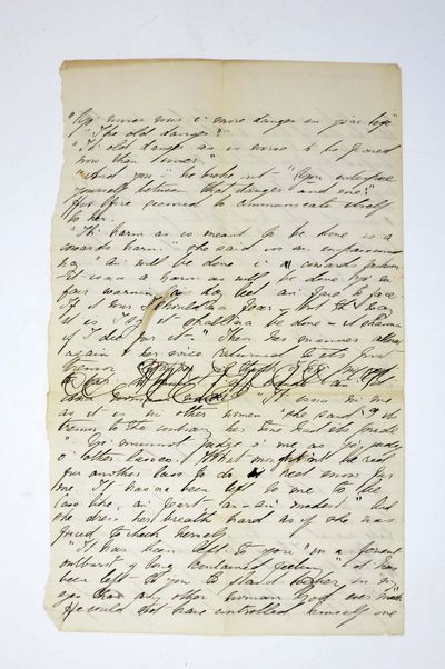 Ca 1876. Cf. BAL 2033. Slight age-toning to paper. A horizontal & vertical fold-line, with short spl...
