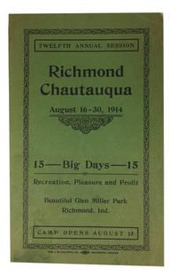 Twelfth Annual Session August 16-30, 1914. [cover title] by Richmond Chautauqua Association [*Booker T. Washington] - Paperback - 1914 - from McBlain Books and Biblio.com