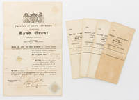 image of Province of South Australia. Land Grant. Under Sales in England. Country Section... [Five original land grants - printed documents with manuscript insertions - relating to country sections purchased by the South Australian pioneer, George Frederick Dashwood, offered as one group]