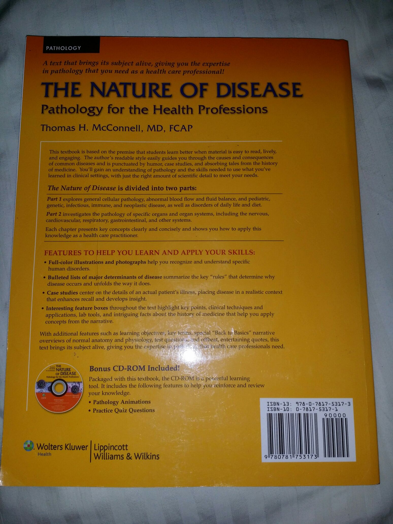 9780781753173 - The The Nature of Disease Pathology for the Health ...