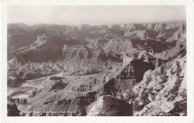 Grand Canyon, AZ: Kolb Brothers, 1928. Real Photo Post Card Undivided back. Four miles from the nati...