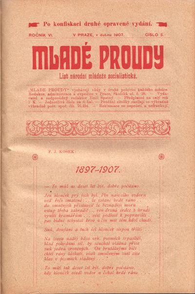 Prague: V. Rejmon, 1901-1948. Octavos (22.2 × 14.7 cm). Contemporary half-cloth; 192 pp. of consecu...