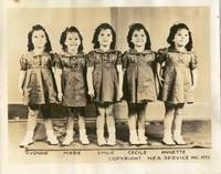 Dionne Quintuplets publicity photo 1938