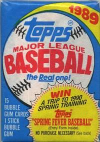 1989 Unopened Topps Major League Baseball Bubble Gum Pack