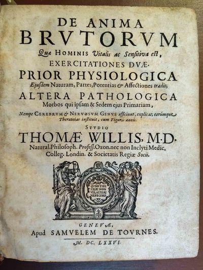 Geneva: Samuel de Tournes, 1676-1677. Good. Three titles in one volume. Quarto (23 cm). De anima bru...