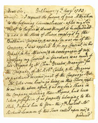 """Autograph Letter, signed (""""D Dulany""""), to Daniel of St. Thomas Jenifer, concerning..."""