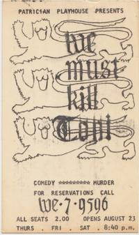 Patrician Playhouse Presents We must kill Coni, 1963 used Postcard