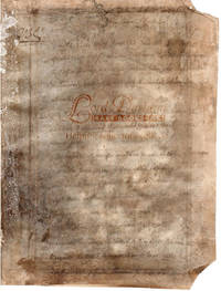 French Document, Royal Seat of Carhaix