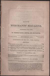 Hunt's Merchants' Magazine. Volume XXIIV, No. 3. September 1852