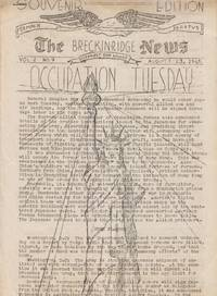 The Breckenridge News Vol. 2 No., August 23 1945: Occupation Tuesday  Souvenir Edition