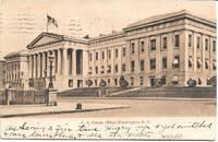 image of U.S. Patent Office, Washington D.C. 1906 Undivided Reverse Sepiatone Postcard