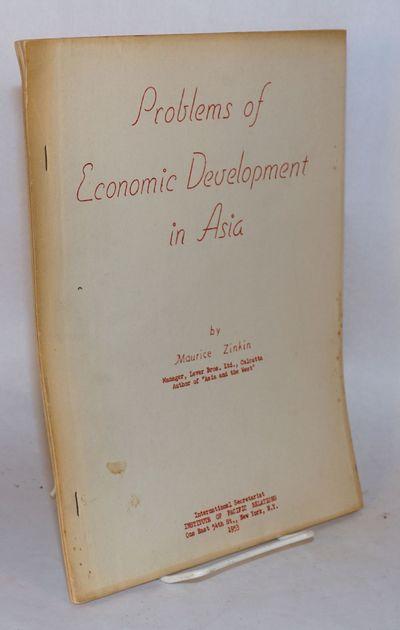 New York: International Secretariat, Institute of Pacific Relations, 1953. 35p., wraps, 8.5x11 inch ...