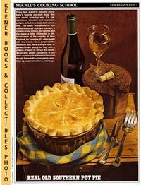McCall's Cooking School Recipe Card: Chicken, Poultry 5 - Chicken Pot Pie  (Replacement...