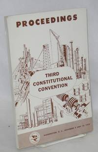 Proceedings: Third constitutional convention, Washington DC, November 9 and 10, 1959