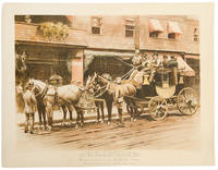 The Road Coach Acquidneck, Horsed and driven by Mr. H. Astor Carey. The start from the Casino, Newport, August, 1892