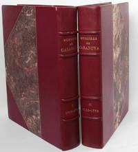 Mémoires de Jacques Casanova de Seignalt, 1734-1755, 1755-1772, extraits colligés par René Groos. Illustrations de Brunelleschi.
