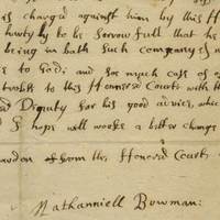 """Harvard 1660: Girls in the Dorms, """"Lascivious"""" Conduct, Students Drinking and Carousing The Puritan elders were not amused, and those involved needed to confess or be punished. This is one of those confessions: """"Through the grace of God I hope will work a better change in my heart""""."""