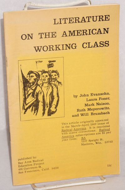 San Francisco: Bay Area Radical Education Project, 1969. 26p., wraps, very good condition. Reprint o...