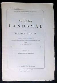 Svenska landsmål och svenskt folkliv
