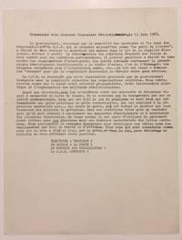 image of Communiqué dela Jeunesse Communiste Révolutionnaire, le 13 juin 1968 [handbill]