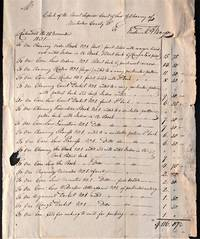 Manuscript Invoice for Blank Books Bond for the Use of the Circuit Superior Court of the Law Chancery of Nicholas County, Virginia