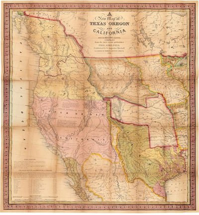 Abaa Accompaniment To Mitchell S New Map Of Texas Oregon And