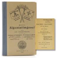 Sacred History in Micmac. ... Sag metj teli pmi Alasotmeoinoimgel osgitgamog. [At head of title:]...