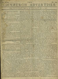 image of Accounts of Captain Cook's Voyage to Hawaii and the American Revolution in the Edinburgh Advertiser July 1-4, 1777