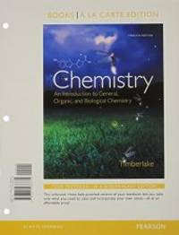 image of Chemistry: An Introduction to General, Organic, and Biological Chemistry, Books a la Carte Edition & Modified MasteringChemistry with Pearson eText -- ValuePack Access Card Package