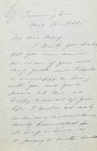 [AUTOGRAPH LETTER, SIGNED BY SARAH PORTER, REGRETFULLY DECLINING A WEDDING INVITATION DUE TO PRESSING CONCERNS AT HER SCHOOL]
