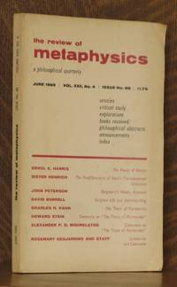 THE REVIEW OF METAPHYSICS, JUNE 1969, VOL. XXII NO. 4 by Errol E. Harris et al - Paperback - First edition - 1969 - from Andre Strong Bookseller (SKU: 18560)