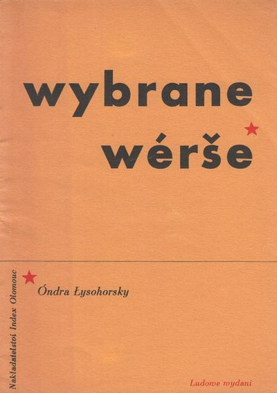 Olomouc: Index, 1936. Octavo (18.5 × 13.3 cm). Original printed wrappers; 34, pp. Signed and inscri...