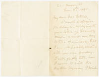 [AUTOGRAPH LETTER, SIGNED, FROM JULIA WARD HOWE, DISCUSSING A PUBLIC RECITATION OF