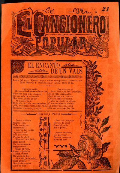 Mexico: A. V. Arroyo, 1910. Unbound. Near Fine Condition. Orange paper.. Undated ca. 1910 Size: ca. ...