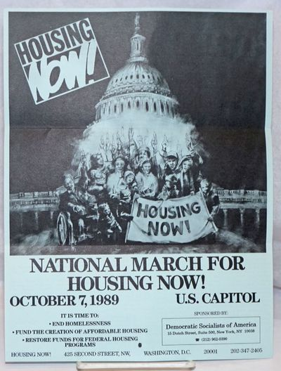 New York: Democratic Socialists of America, 1989. 8.5x11 inch handbill, folded for mailing; the reve...