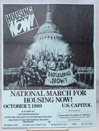image of National march for housing now! October 7, 1989. US Capitol [handbill]