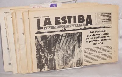 Barcelona: Coordinadora Estatal de los Estibadores Portuarios, 1988. Fourteen issues of the tabloid-...