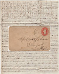 AN ABOLISIONIST MINNESOTA PIONEER REPORTS HE HAS PREEMPTIVELY PURCHASED HIS ILLEGALLY SQUATTED UPON HOMESTEAD - LETTER FROM ONE OF THE FIRST FEW SETTLERS IN STEELE COUNTY