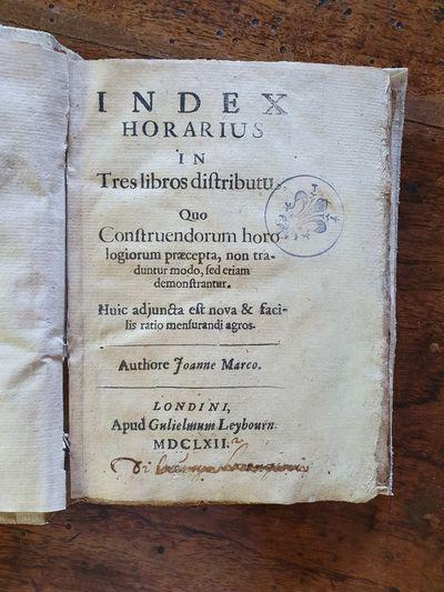 Index horarius in tres libros...