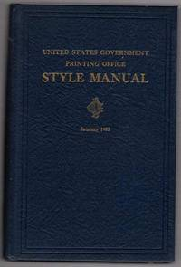 United States Government Printing Office Style Manual, 1953