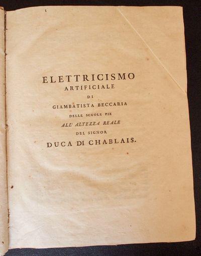 Elettricismo artificiale ...  [BOUND...