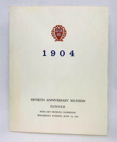 1954. Wraps. Cream cards. Very good. 18.5 x 14.5 cm. Folded card. Very good. Full menu with entertai...