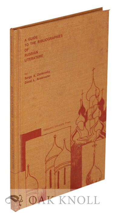 (Nashville, TN): Vanderbilt University Press, 1970. cloth. Russia. 8vo. cloth. x, 62 pages. Introduc...