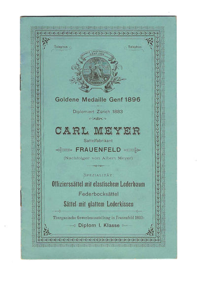 Frauenfeld: Buchdrukerei Huber & Co., 1900. Softcover. Very good. First edition, n. d. (ca 1900); 7 ...
