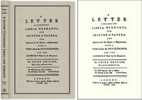 A Letter Concerning Libels, Warrants, The Seizure of Papers, and..