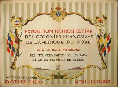 Paris: Société de Géographie, 1929. Jean Kerhor. Original poster. Color lithograph. 22 x 29...